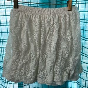 Urban outfitters lace white skirt